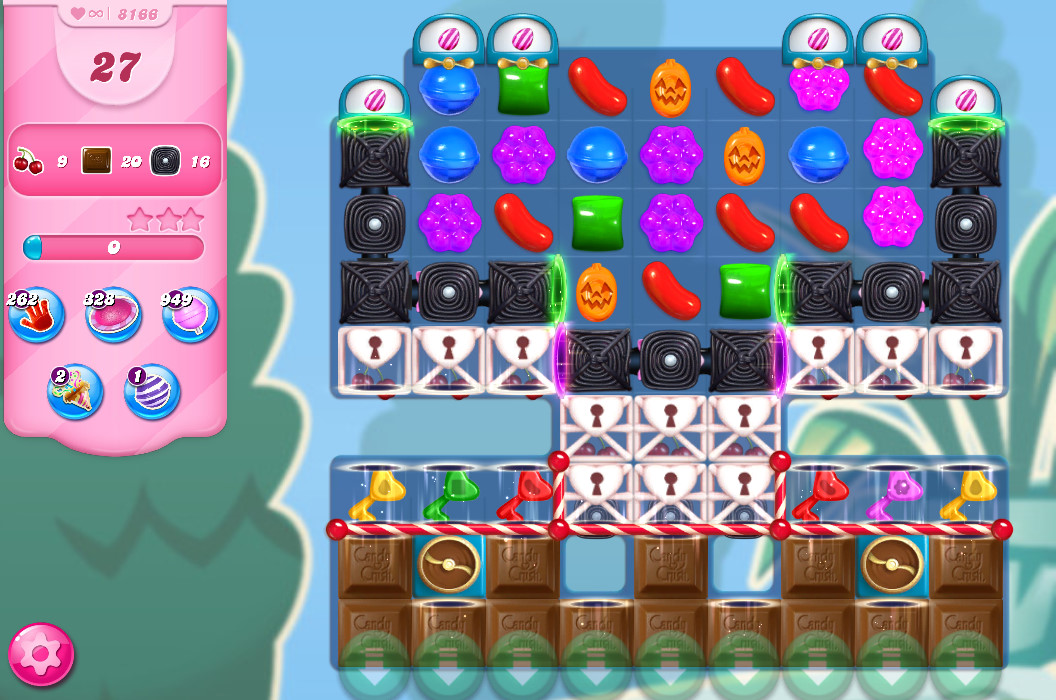 Candy Crush Saga level 8166