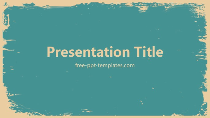 Retro PowerPoint Template - powerpoint backgrounds vintage