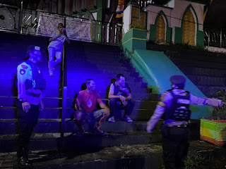 Patroli Biru Laksanakan Unit Patmor Satuan Sabhara Polres Enrekang