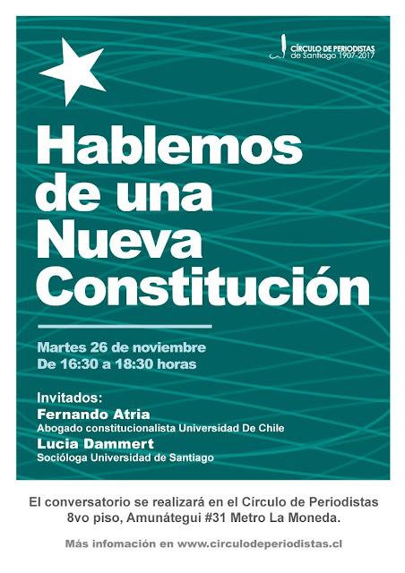 Círculo de Periodista: Hablemos de una nueva constitución