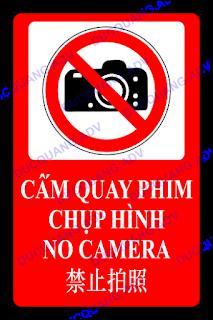 Biển báo Cấm Quay Phim - Chụp Hình