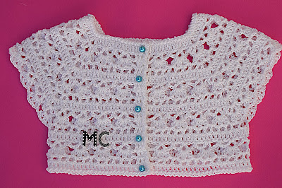 5 -Crochet Imagen Canesú blanco a crochet y ganchillo por Majovel Crochet