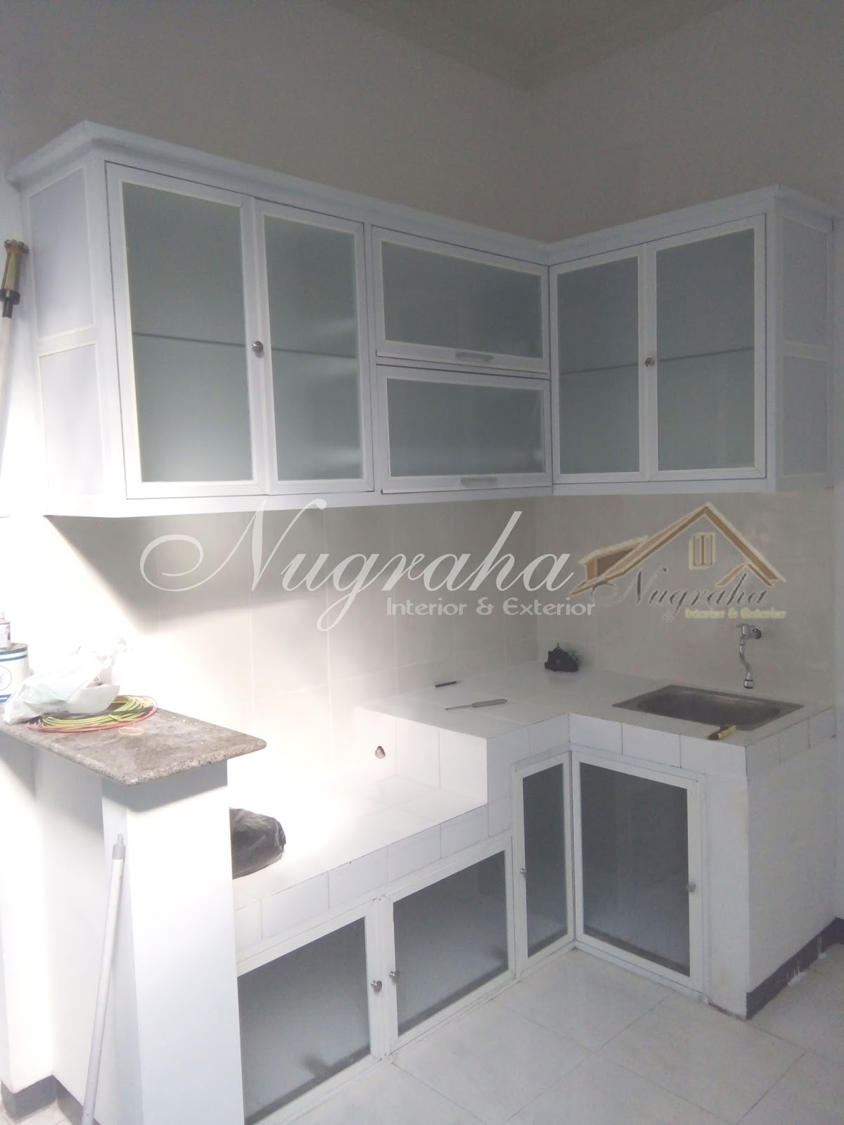 Kitchen Set Aluminium Putih Home Design