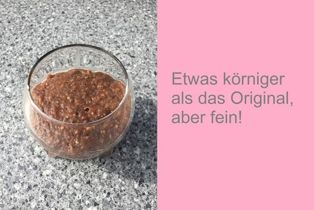 Glas mit Nutella Alternative