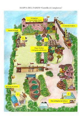 Mappa La Casa di Babbo Natale (Roma)