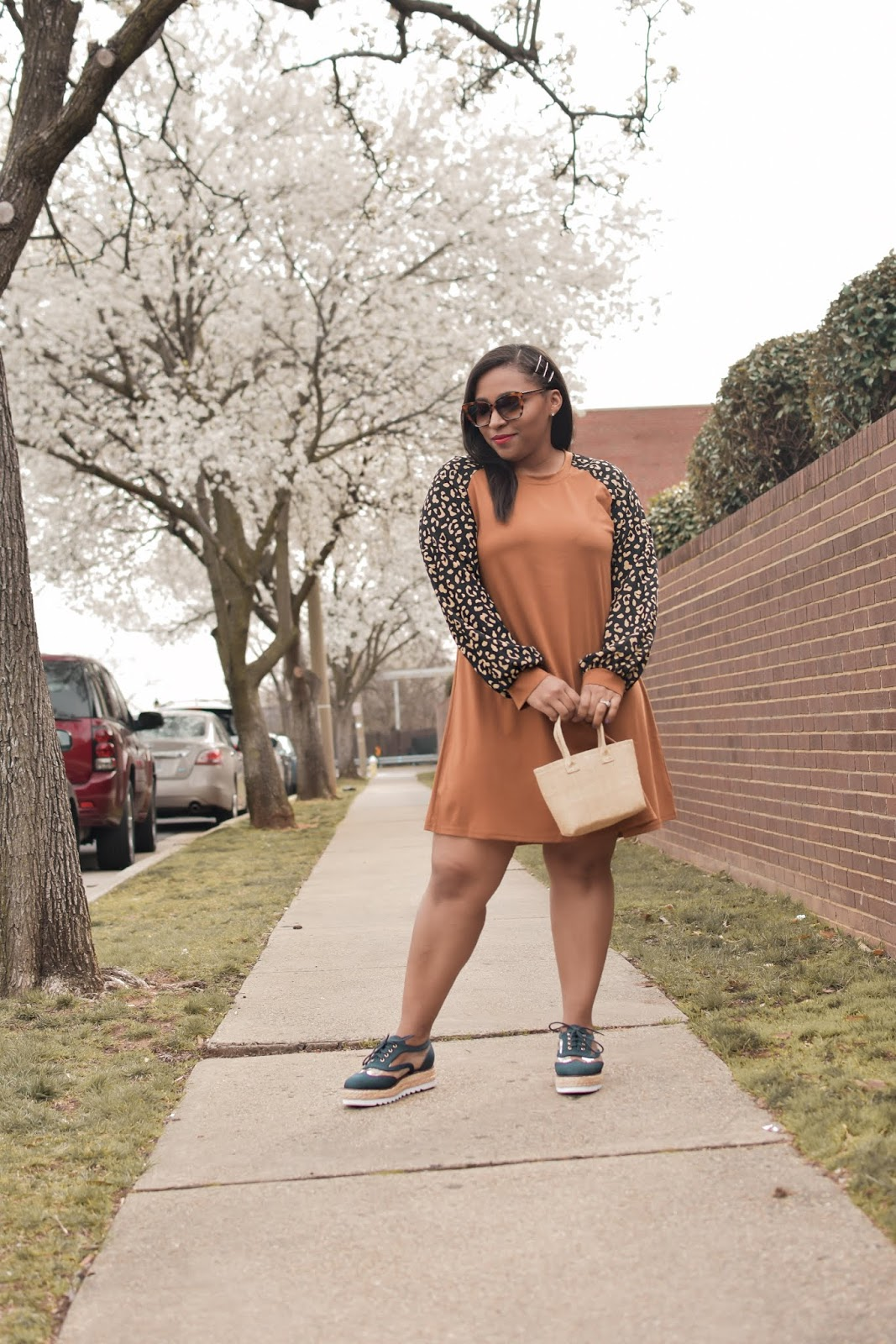 shein, shein reviews, leopard dress, lantern sleeves, spring dresses, trendy spring dresses, pattys kloset, spring outfits