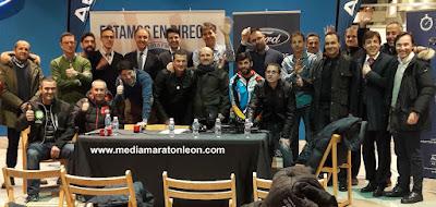 49 corredores media maraton leon