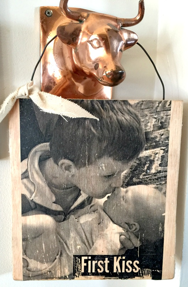 Photo transfer method on wood