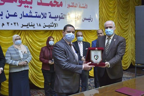 جامعة الفيوم تستضيف أ.د محمد زهران رئيس الهيئة القومية للاستشعار عن بعد وعلوم الفضاء