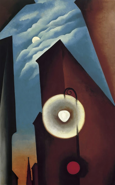 New York Street with Moon :  Georgia O'Keeffe  Tate Modern expostion 2017