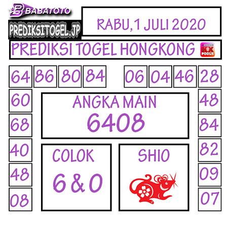 Prediksi Babatoto HK Malam Ini 01 Juli 2020