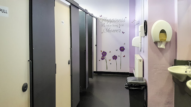 Photo of the ladies shower and toilet facilities at Maryport Marina