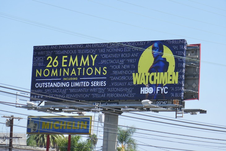 Watchmen 2020 Emmy nominee billboard