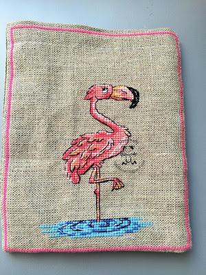 Woreczek z flamingiem