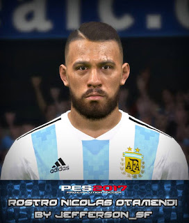 PES 2017 Faces Nicolas Otamendi by FaceEditor Jefferson_SF