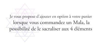 Option Sacralisation des Malas et colliers
