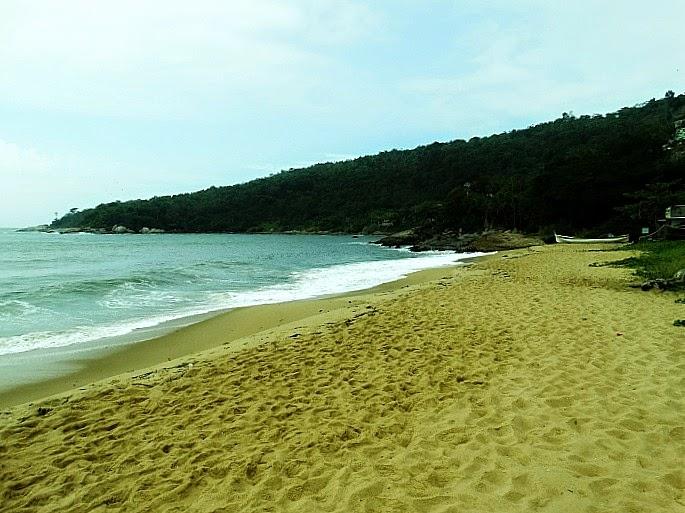 A Praia de Taquaras, em Balneário Camboriú, vista do nível do mar