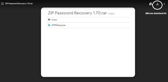 Cara Membuka Password Winzip Yang Terkunci