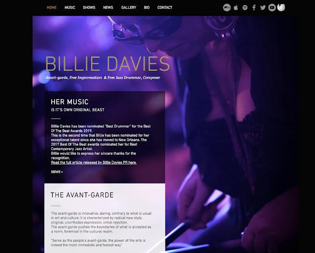 BillieDavies.com official site for Billie Davies
