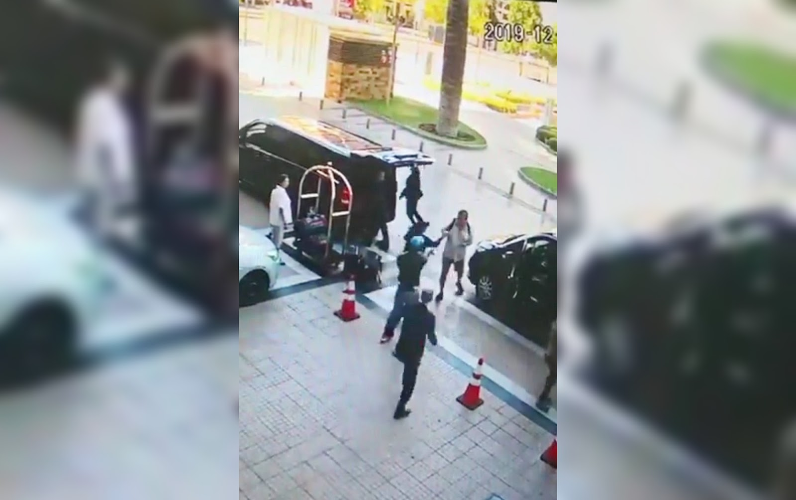 Trimotochorros atacaron a turistas afuera de un hotel en Las Condes