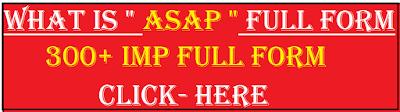 asap full form