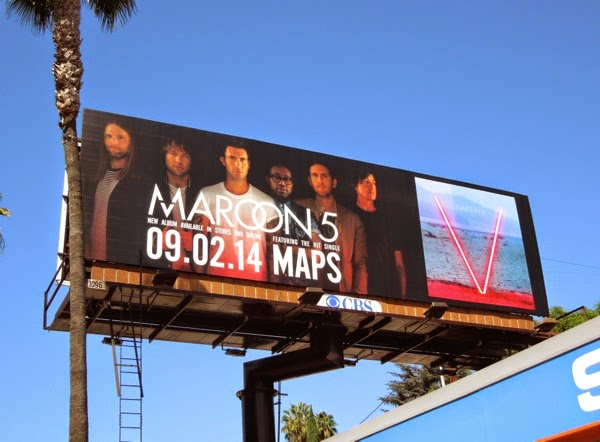 Maroon 5 V music album billboard