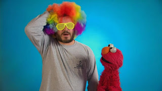 Celebrity, Jack Black, the Word on the Street, disguise, Sesame Street Episode 4315 Abby Thinks Oscar is a Prince season 43