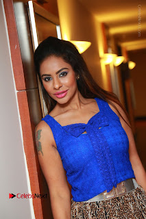 Telugu Actress Srilekha Reddy Latest HD Pos in Sleeveless Blue Top at Muse Art Gallery  0058.JPG