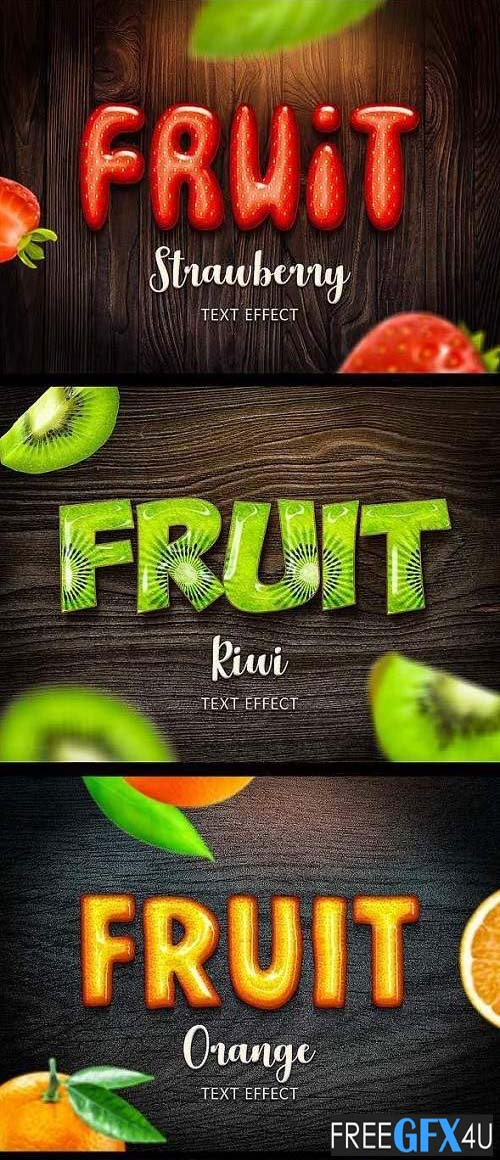 Fruit Text Effects for Photoshop