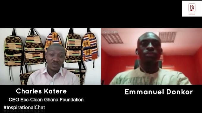 #InspirationalChat with Charles Katere, CEO of Eco-Clean Ghana Foundation and winner for 5k Challenge. #BeInspired!