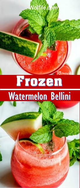 Frozen Watermelon Bellani Recipe #Summer #Drink
