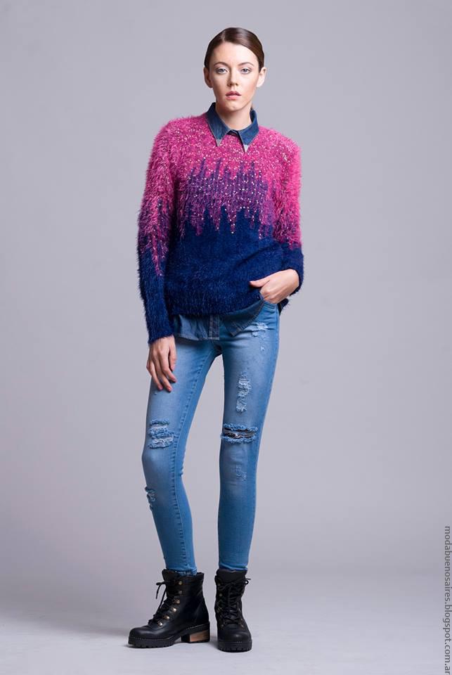Moda invierno 2016 ropa de mujer Dominga Dominó.