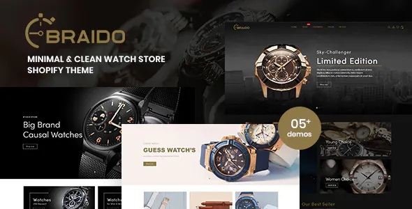 Best Minimal and Clean Watch Store Shopify Theme