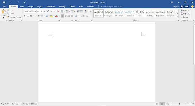 blank dokumen miicrosoft word