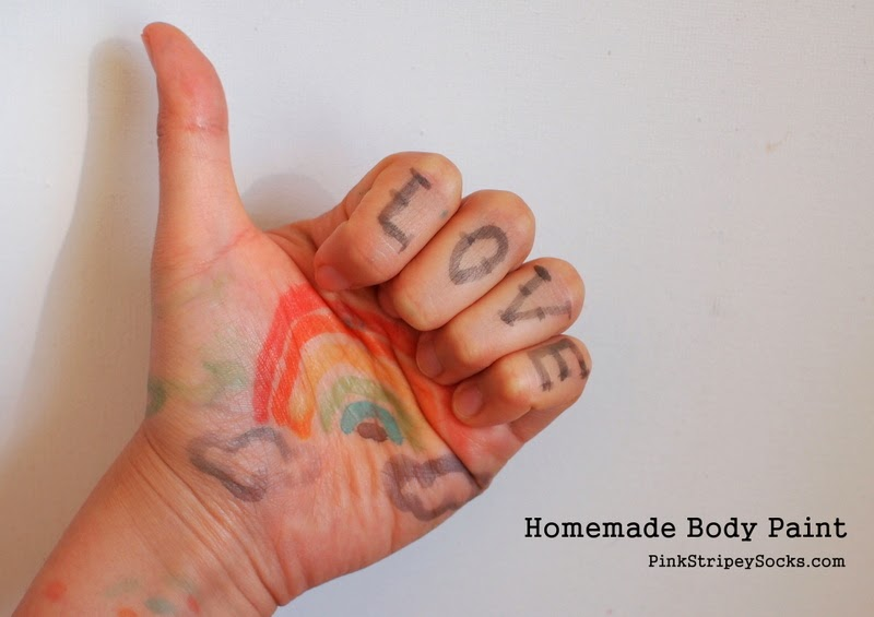 how to make homemade body paint