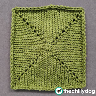 Knit Increase Sampler Squares: Block 14