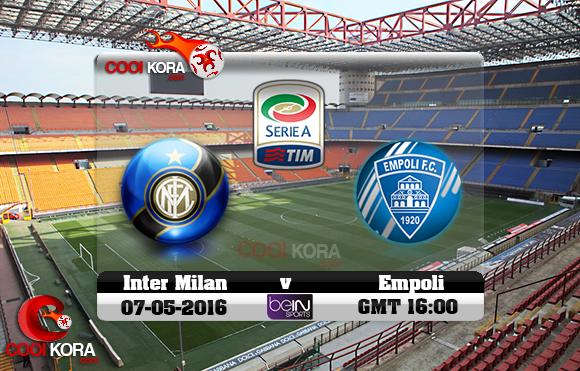 مشاهدة مباراة إنتر ميلان وإمبولي اليوم 7-5-2016 في الدوري الإيطالي