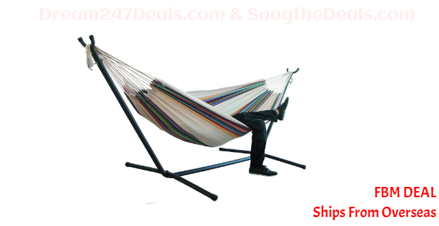 75%  off Comfort Durability Striped Hanging Chair Large Hammock