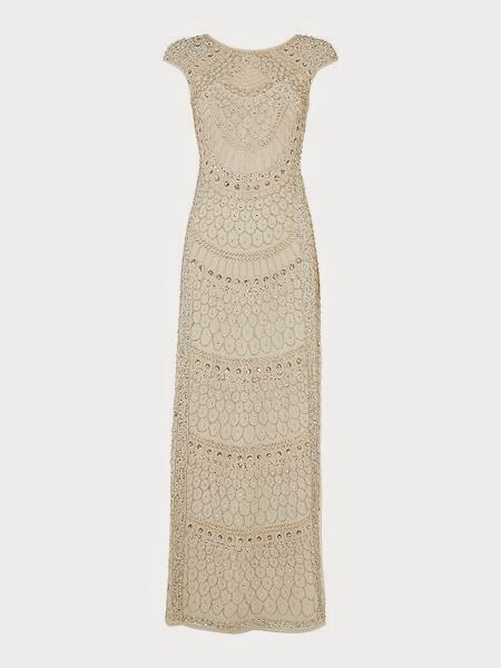 Lace and Beads Cap Sleeve Maxi - House of Fraser