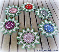 crochet patterns, how to crochet, stars, coasters, christmas decos,