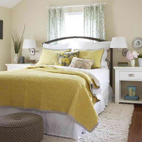 22 BEAUTIFUL YELLOW THEMED SMALL BEDROOM DESIGNS ... on Beautiful Bedroom Ideas For Small Rooms  id=48039