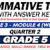 GRADE 5 SUMMATIVE TEST with Answer Key (Modules 3-4) 2ND QUARTER