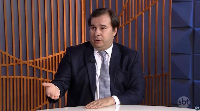 Rodrigo Maia em entrevista