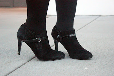 Nine West Black Suede Metra Booties