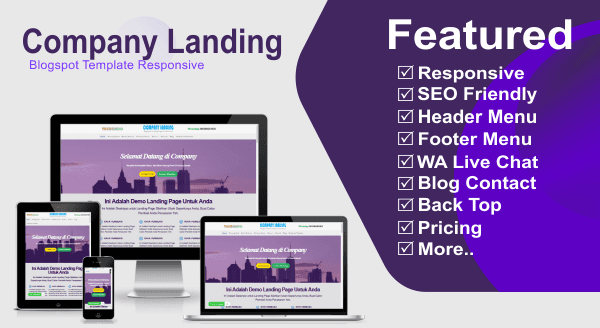 Company Landing Blogspot Template responsive
