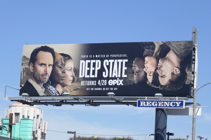 Deep State season 2 Epix billboard