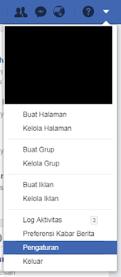 Menu Pengaturan Facebook di browser