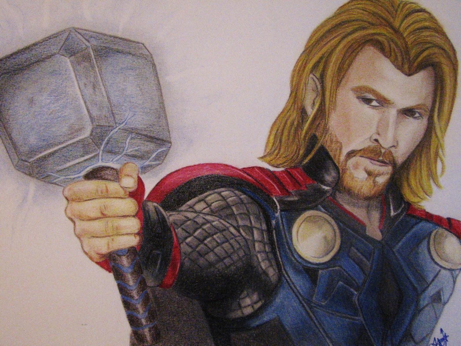 Dibujos Y Retratos Thor Chris Hemsworth