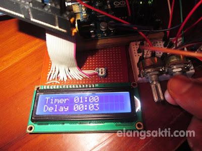 Alat pengontrol relay dengan timer digital, timer switch pompa grease