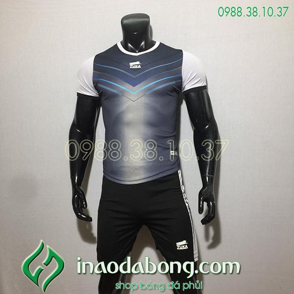 Áo bóng đá ko logo Zuka Mon màu đen